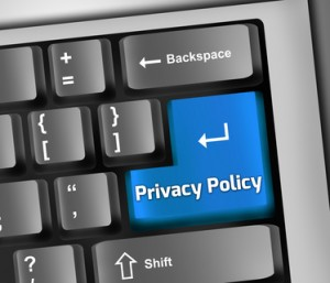 """Keyboard Illustration """"Privacy Policy"""""""